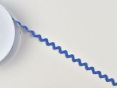 Zackenlitze Baumwolle 10mm, jeansblau