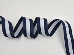 gestreiftes Webband 4 cm breit,  navy weiss