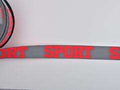Gummiband Sport 32 mm breit, neonorange grau