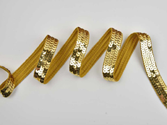 Paillettenband 20 mm breit, gold