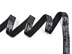 Paillettenband 20 mm breit, schwarz