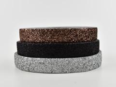 Glitzerband 25 mm breit, schwarz changierend