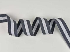 Gurtband Streifen 4 cm, dunkelgrau weiß