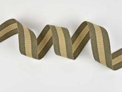 Gurtband Streifen 4 cm, taupe beige