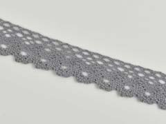 Häkelspitze 26 mm, grau