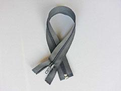 Reißverschluss 35 cm teilbar, dunkelgrau