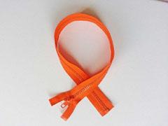 Reißverschluss 50 cm teilbar, leuchtend orange