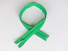 Reißverschluss 55 cm teilbar, grün