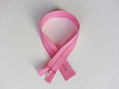 Reißverschluss 35 cm nicht teilbar, helles pink