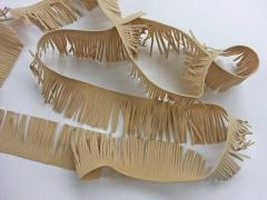 Fransenband Wildlederimitat 5 cm breit, beige