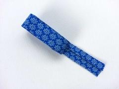 Schrägband 2m-Stück Streublümchen, royalblau