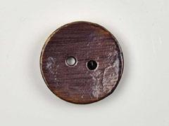Kokosknopf rund 35mm Holzknopf glasiert, dunkeltaupe