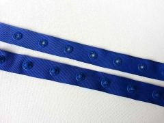 Druckerband Knopfabstand 2.5 cm, royalblau