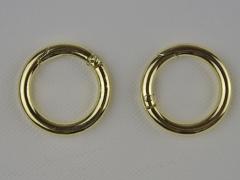 2 Taschenringe Ø 3.5 cm,  gold