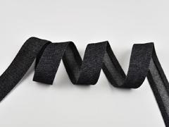 Schrägband Jeans, schwarz