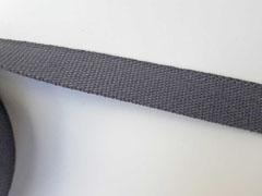 Gurtband Baumwolle 3 cm, dunkelgrau