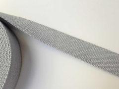 Gurtband Baumwolle 3 cm, hellgrau