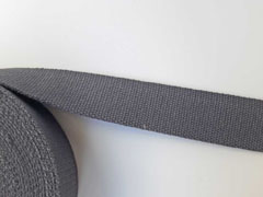Gurtband Baumwolle 40 mm, dunkelgrau