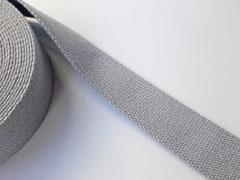 Gurtband Baumwolle 40 mm, hellgrau