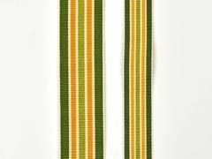 Ripsband Streifen 25 mm, grün ocker