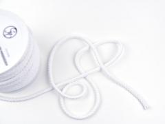dicke Baumwollkordel 8 mm, weiß