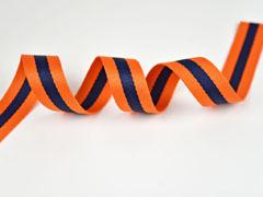 Gurtband Streifen 3 cm, orange navy orange