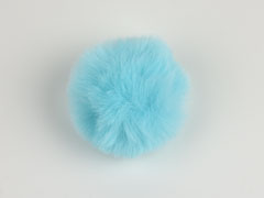 Kunstfellbommel Taschenanhänger 6 cm, hellmint