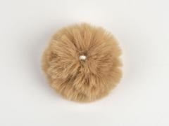 Kunstfellbommel Taschenanhänger 6 cm, beige