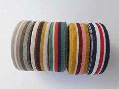 Ripsband Streifen 35 mm, beige rotbraun anthrazit ocker