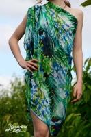 Chiffon Jungle Fever, grün/blau