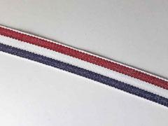 Webband Streifen 15 mm, dunkelrot weiß navy