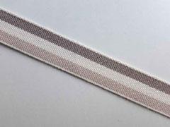 Webband Streifen 15 mm, beige cremeweiß taupe