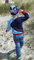 RESTSTÜCK 35 cm Jersey Rettungsringe & Boote, blau rot