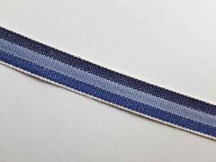Webband Streifen 15 mm, blau hellblau dunkelblau