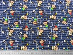 Jersey Fußball & Äffchen - dunkelblau