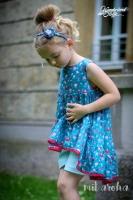 Baumwollstoff Voile Vögel & Blumen, rosa rot petrol