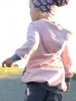angerauter Sweat Melange - rosa