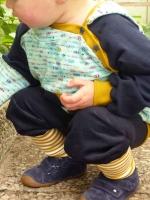 Feincord Stoff Babycord uni, dunkelblau
