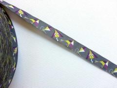 Webband Drachenflug Blaubeerstern, grau/lila