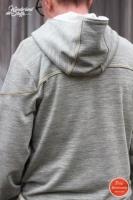 RESTSTÜCK 85 cm angerauter Sweat Melange - khaki