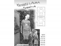 Schnittmuster Kurzkleid Laura Farbenmix