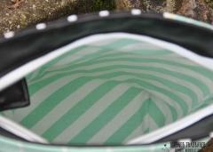 Dekostoff Halbovale, Pastellfarben schwarz weiss