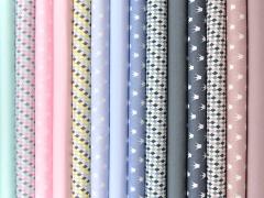 Baumwolle kleine Rauten, grau/rauchblau