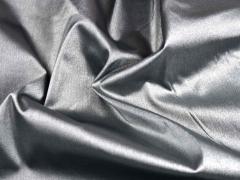 Baumwollstoff Stretch glänzend, dunkelgrau