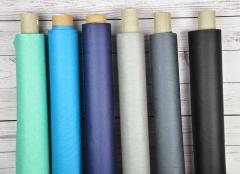 beschichteter Baumwollstoff einfarbig Luisa, schwarz