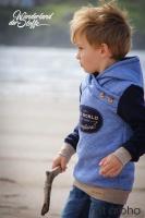 RESTSTÜCK 85 cm gesteppter Jersey Rauten, jeansblau melange