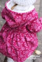 Softshell Stoff 3-schichtig Blüten & Blätter, Himbeerpink