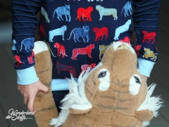 Jersey bunte Tiger by Poppy, dunkelblau