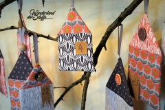 Baumwollstoff Retroblumen, aprikot hellgrau