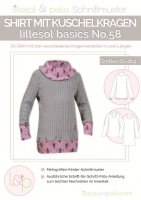 Schnittmuster lillesol No.58 Shirt Kuschelkragen